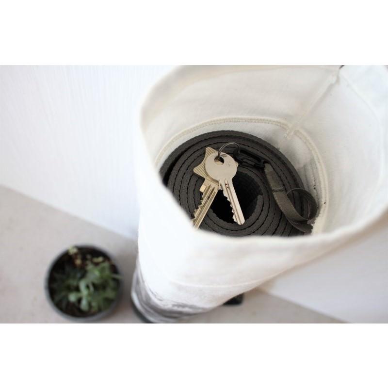 Kleinesbild - Mattentasche 2.0 aus Kunstleder und Baumwolle schwarz weiß grau [vegan]
