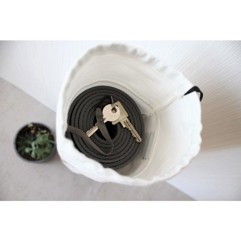 Kleinesbild - Mattentasche aus Kunstleder und Baumwolle grau weiß perlmutt [vegan]