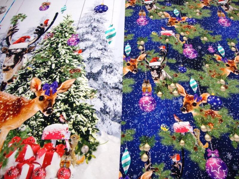 - Weihnachts-Panel Digitaldruck Jersey Stoff Rehkitz, Hirsch, Kugeln blau Muster Panel ca. 0,95m/1,50mWeihnachtsPanel,Rehkitz  - Weihnachts-Panel Digitaldruck Jersey Stoff Rehkitz, Hirsch, Kugeln blau Muster Panel ca. 0,95m/1,50mWeihnachtsPanel,Rehkitz