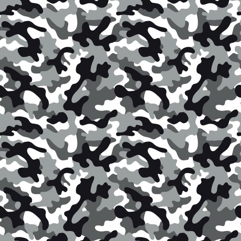 - Baumwoll-Jersey Camouflage weiß grau schwarz Jerseystoff Tarnfleck Tarnstoff - Baumwoll-Jersey Camouflage weiß grau schwarz Jerseystoff Tarnfleck Tarnstoff