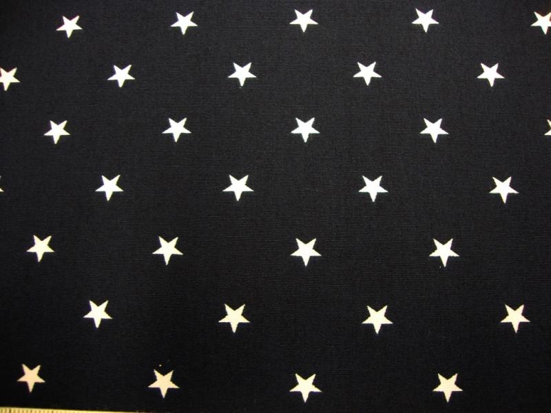 - Baumwollstoff mit weissen Sternchen  auf dunkelblau - Baumwollstoff mit weissen Sternchen  auf dunkelblau