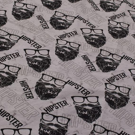 - Sweat French Terry Druck Hipster by KATINOH Limited Edition schwarz grau Sweat für Jungs Männer  - Sweat French Terry Druck Hipster by KATINOH Limited Edition schwarz grau Sweat für Jungs Männer