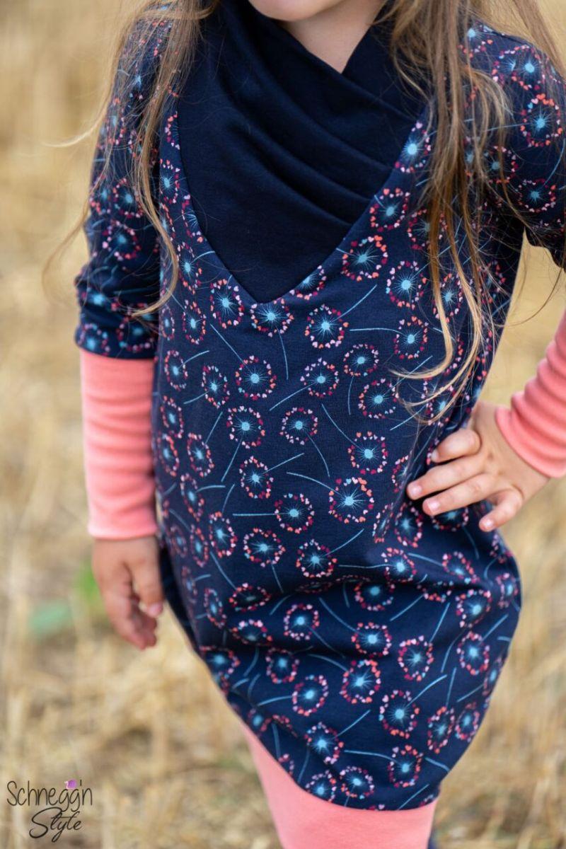 Kleinesbild - Sweat French Terry Druck - Pusteblume - Premium Collection bunte Pusteblume auf blau Kinderstoffe Mädels Frauen