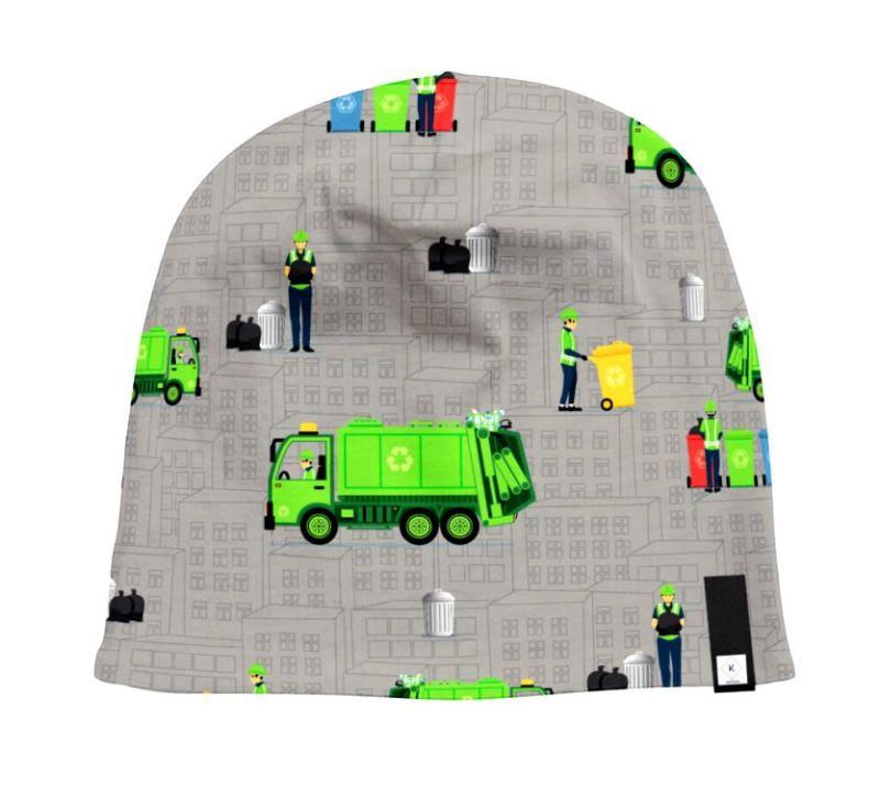 Kleinesbild - Sweat French Terry Druck–Recycling- Limited Edition by KATINOH Müllautos Mülltonnen Müllmänner Sweat für Jungs Männer made EU