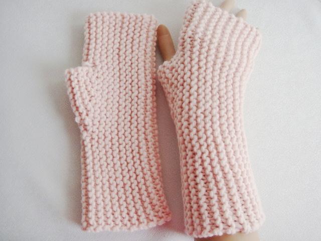 Kleinesbild - Handstulpen, mit Daumenkeil, in pastell- rosa
