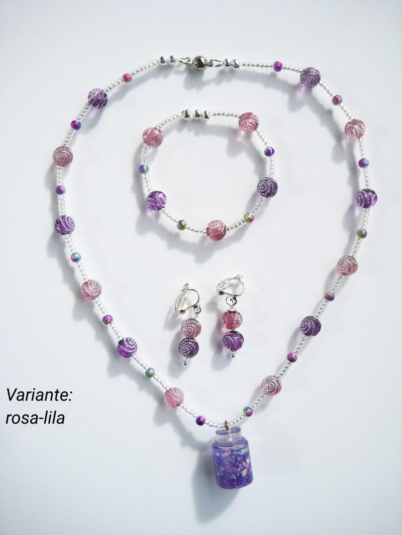 Kleinesbild - Schmuckset bestehend aus Halskette, Armband und Ohrringen