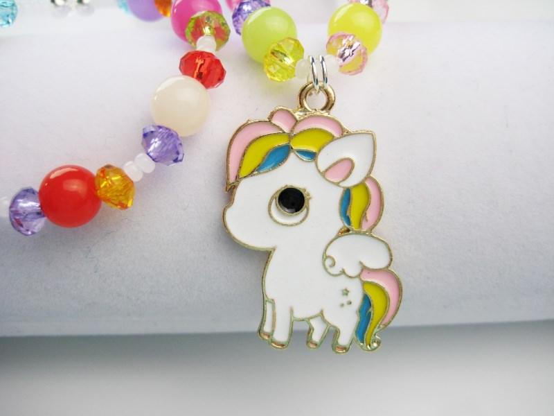 Kleinesbild - Kette und Armband mit süßem Pferdchen