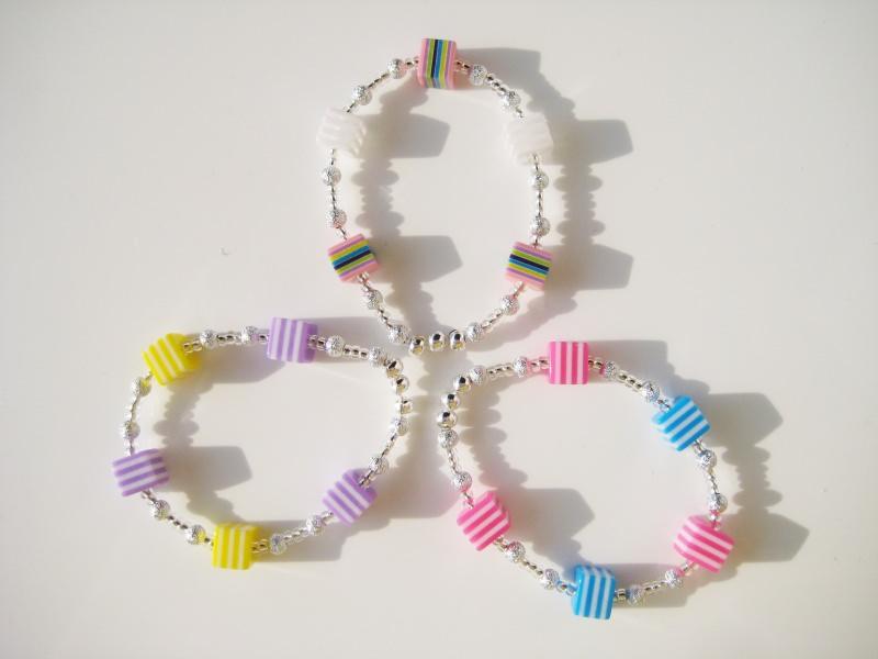 Kleinesbild - Schmuckset mit Kette und Armband mit bunten Würfeln