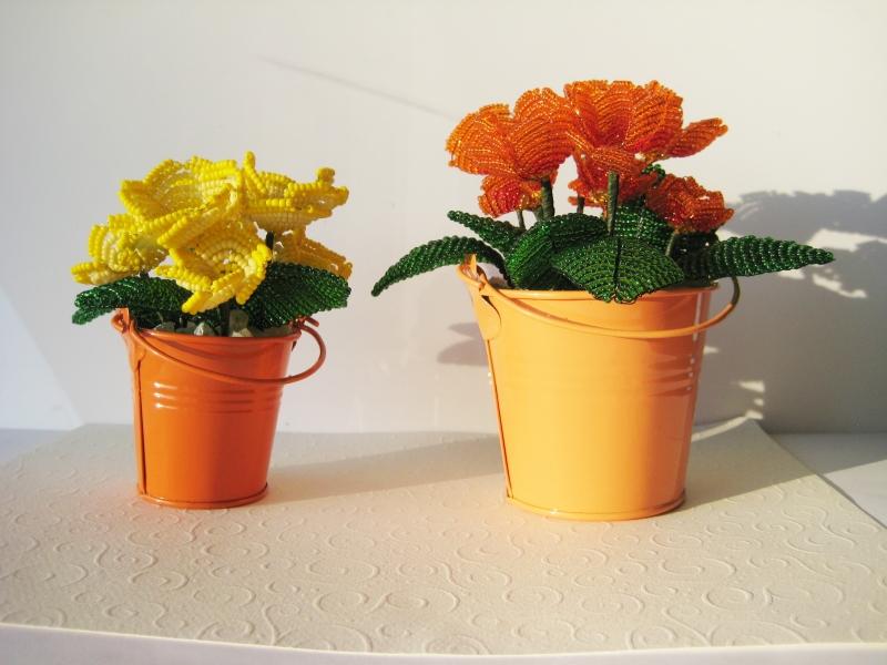 Dekoration Perlenblume Primel In Gelb Oder Orange