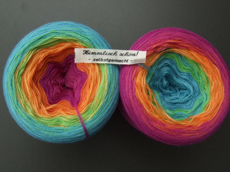 Kleinesbild - 3-fädig gefachtes Farbverlaufsgarn Wolke 7 Lollipop 900m Lauflänge