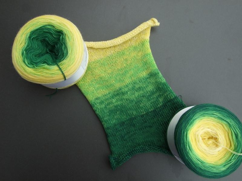 Kleinesbild - 3-fädig gefachtes Farbverlaufsgarn Wolke 7 Zitrone mit 920m Lauflänge