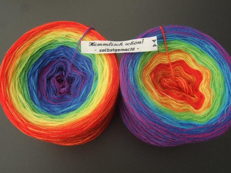 Kleinesbild - 3-fädig gefachtes Farbverlaufsgarn Wolke 7 leuchtender Regenbogen 900m Lauflänge
