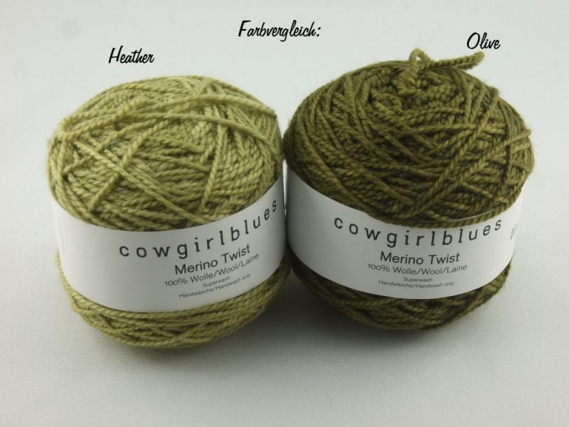 Kleinesbild - Handgefärbte Merino Twist Solid Olive von Cowgirl Blues
