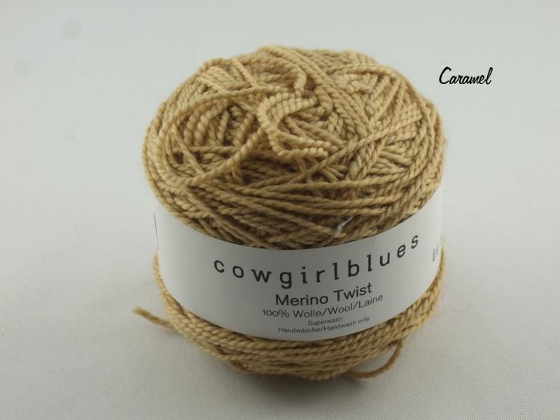 - Handgefärbte Merino Twist Solid Caramel von Cowgirl Blues - Handgefärbte Merino Twist Solid Caramel von Cowgirl Blues