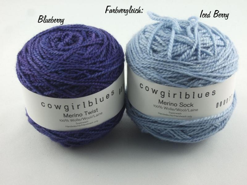 Kleinesbild - Handgefärbte Merino Twist Solid Blueberry von Cowgirl Blues