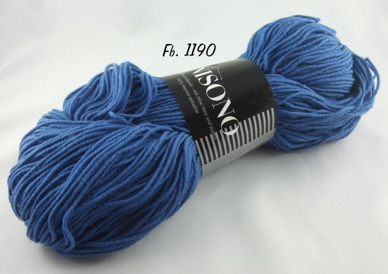 - Atelier Zitron - Unisono Uni mit Aloe Vera und Jojoba - Farbe 1190 blau - Atelier Zitron - Unisono Uni mit Aloe Vera und Jojoba - Farbe 1190 blau
