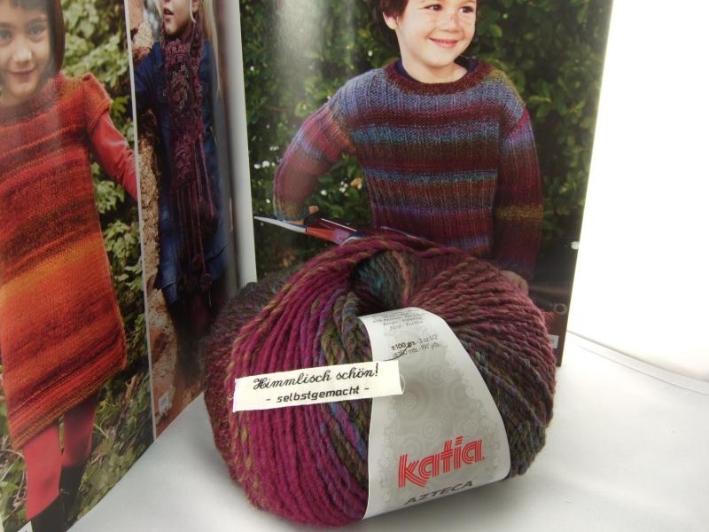 - schöne Verlaufswolle von Katia Azteca Farbe 7821 in lila und türiks - schöne Verlaufswolle von Katia Azteca Farbe 7821 in lila und türiks