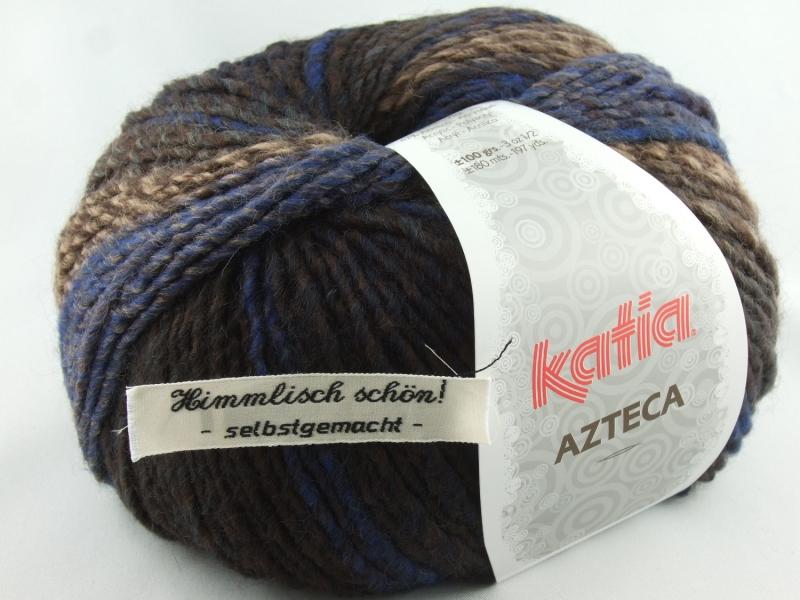 - schöne Verlaufswolle von Katia Azteca Farbe 7823 in blau und braun - schöne Verlaufswolle von Katia Azteca Farbe 7823 in blau und braun