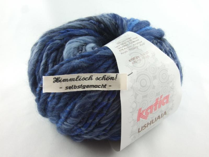 - schöne Multicolor- und Effektwolle von Katia Ushuaia Farbe 609 in blau - schöne Multicolor- und Effektwolle von Katia Ushuaia Farbe 609 in blau