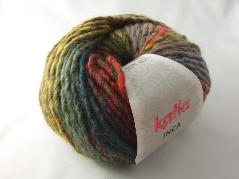 - schöne Multicolorwolle von Katia Inca Farbe 101 in herbstlich bunt - schöne Multicolorwolle von Katia Inca Farbe 101 in herbstlich bunt