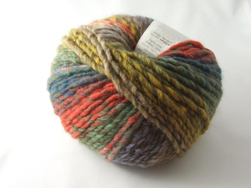 Kleinesbild - schöne Multicolorwolle von Katia Inca Farbe 101 in herbstlich bunt
