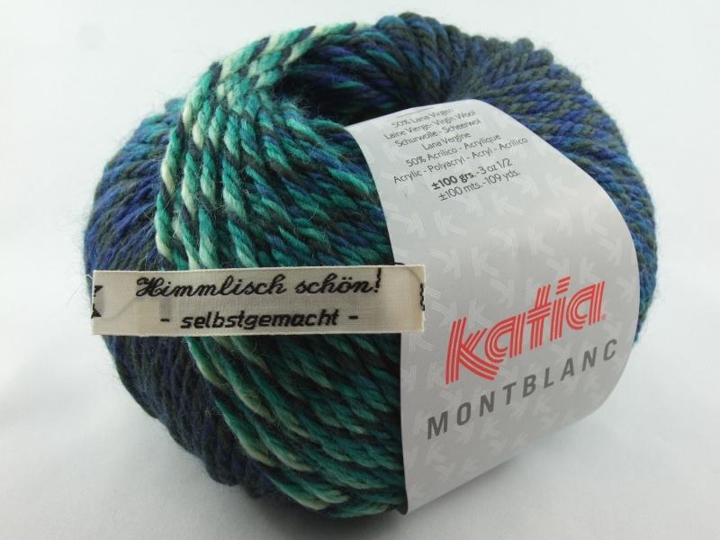 - schöne Multicolorwolle von Katia Montblanc Farbe 70 in petrol, türkis und grün - schöne Multicolorwolle von Katia Montblanc Farbe 70 in petrol, türkis und grün