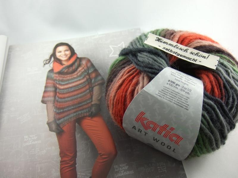 - schöne Multicolorwolle von Katia Art Wool Farbe 67 in braun, rost, grau und grün - schöne Multicolorwolle von Katia Art Wool Farbe 67 in braun, rost, grau und grün
