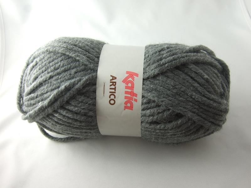 - dickes einfarbiges Garn von Katia Artico Farbe 12 in grau - dickes einfarbiges Garn von Katia Artico Farbe 12 in grau