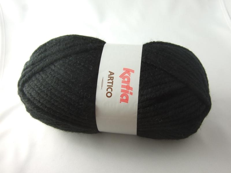- dickes einfarbiges Garn von Katia Artico Farbe 2 in schwarz - dickes einfarbiges Garn von Katia Artico Farbe 2 in schwarz
