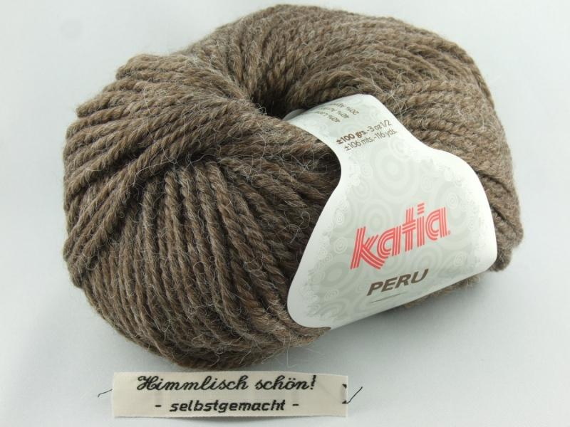 - kuschelige einfarbige Wolle mit Alpaka von Katia Peru Farbe 10 in braun - kuschelige einfarbige Wolle mit Alpaka von Katia Peru Farbe 10 in braun