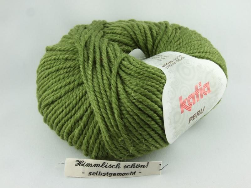 - kuschelige einfarbige Wolle mit Alpaka von Katia Peru Farbe 15 in moosgrün - kuschelige einfarbige Wolle mit Alpaka von Katia Peru Farbe 15 in moosgrün