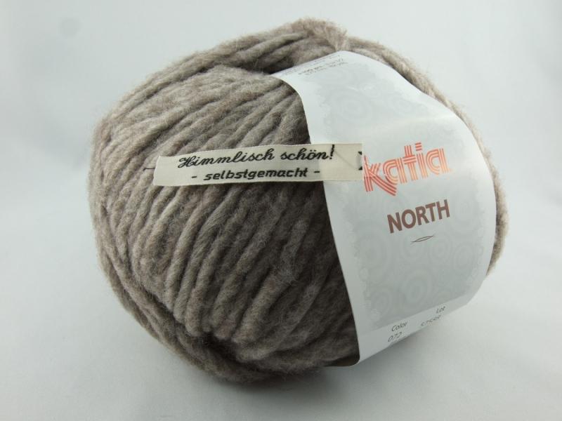 - dickes einfarbiges Garn von Katia North Farbe 72 in hellbraun - dickes einfarbiges Garn von Katia North Farbe 72 in hellbraun