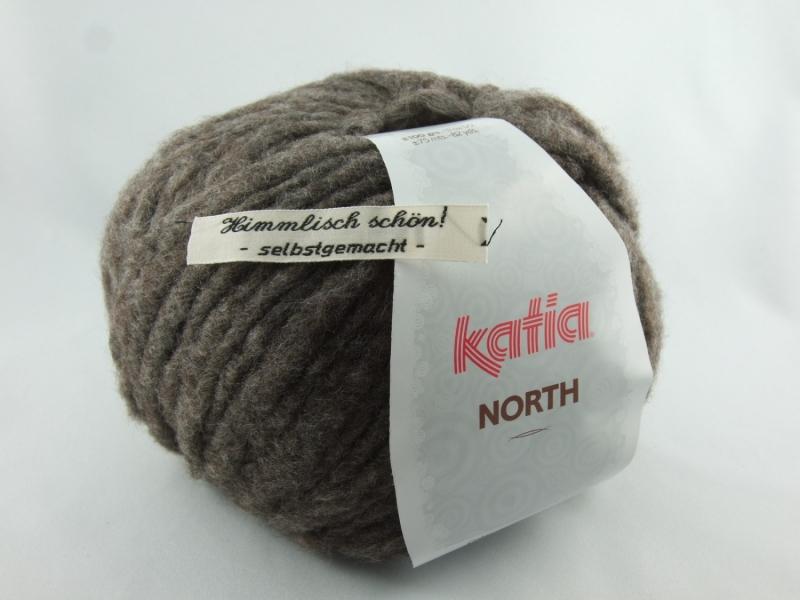 - dickes einfarbiges Garn von Katia North Farbe 73 in dunkelbraun - dickes einfarbiges Garn von Katia North Farbe 73 in dunkelbraun