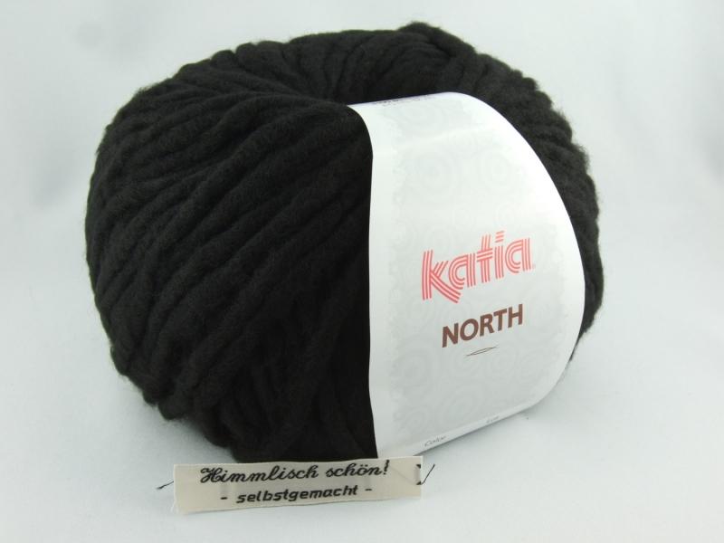 - dickes einfarbiges Garn von Katia North Farbe 76 in schwarz - dickes einfarbiges Garn von Katia North Farbe 76 in schwarz