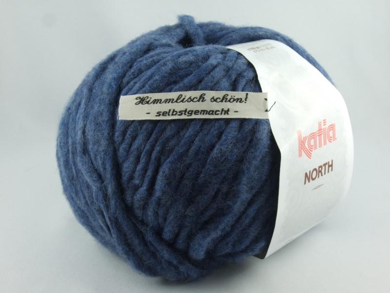 - dickes einfarbiges Garn von Katia North Farbe 87 in blau - dickes einfarbiges Garn von Katia North Farbe 87 in blau