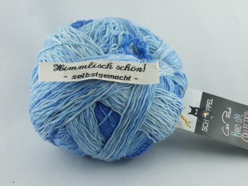 Kleinesbild - wunderschöne handgefärbte Verlaufswolle Schoppel XL Kleckse Farbe Das Blaue vom Himmel