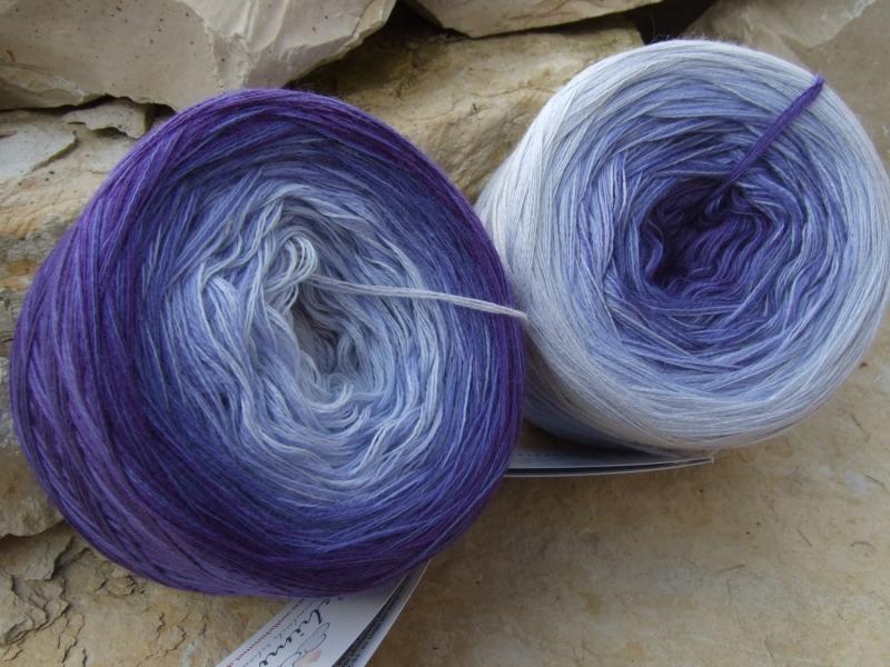 Kleinesbild - 3-fädig gefachtes Farbverlaufsgarn (Bobbel) Wolke 7 Purple 760m Lauflänge
