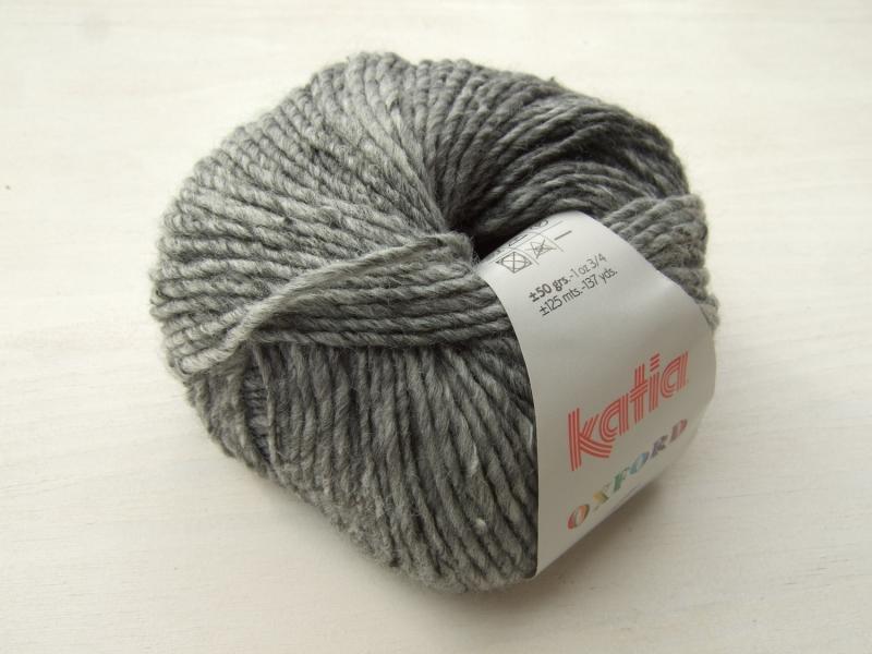 - schöne Tweedwolle von Katia Oxford Farbe 205 in grau - schöne Tweedwolle von Katia Oxford Farbe 205 in grau