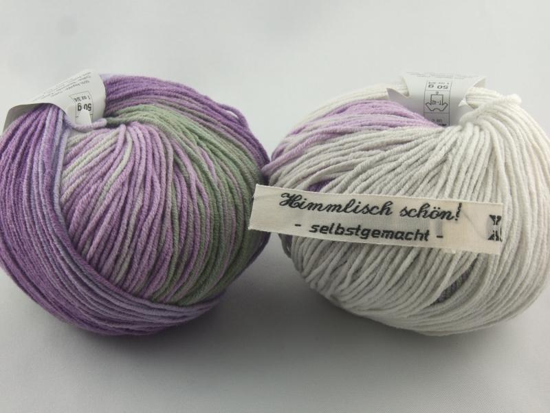 Kleinesbild - sommerliches Baumwollgarn von Katia Belice in Farbe 310: lila und grau