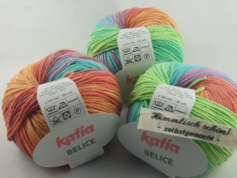 - sommerliches Baumwollgarn von Katia Belice in Farbe 317: bunt - sommerliches Baumwollgarn von Katia Belice in Farbe 317: bunt