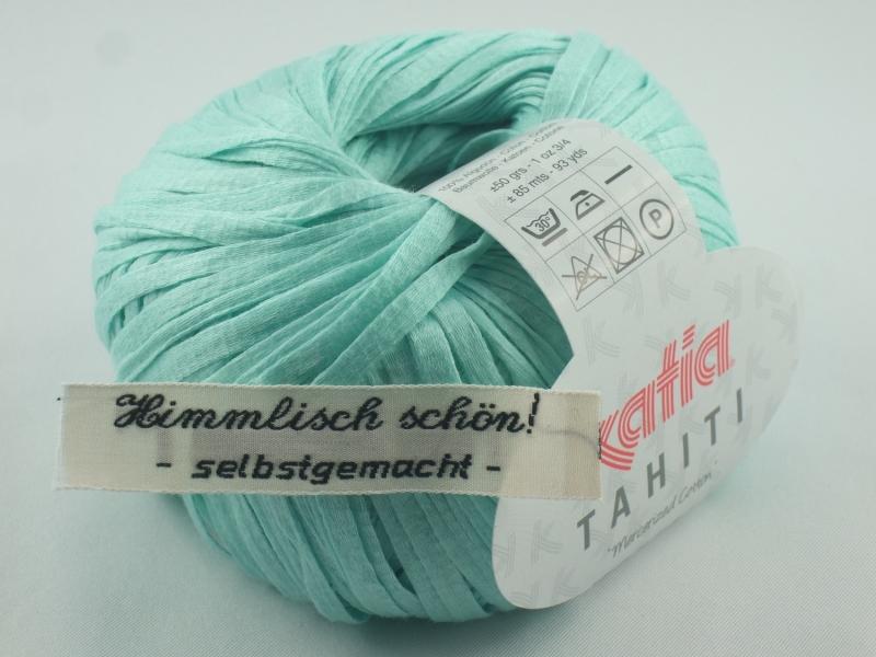 - sommerliches Bändchengarn Tahiti von Katia in Farbe 12: türkis - sommerliches Bändchengarn Tahiti von Katia in Farbe 12: türkis