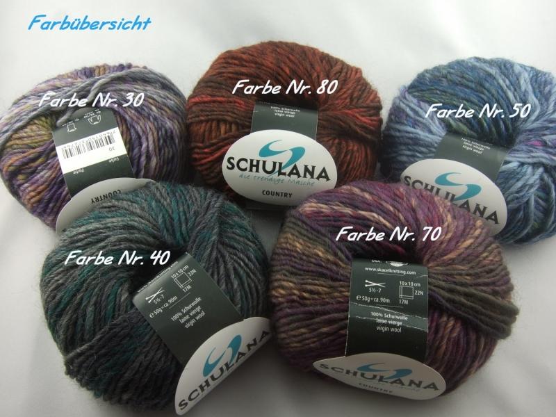 Kleinesbild - schöne melierte Schurwolle von Schulana: Country Farbe Nr. 40, anthrazit, petrol meliert