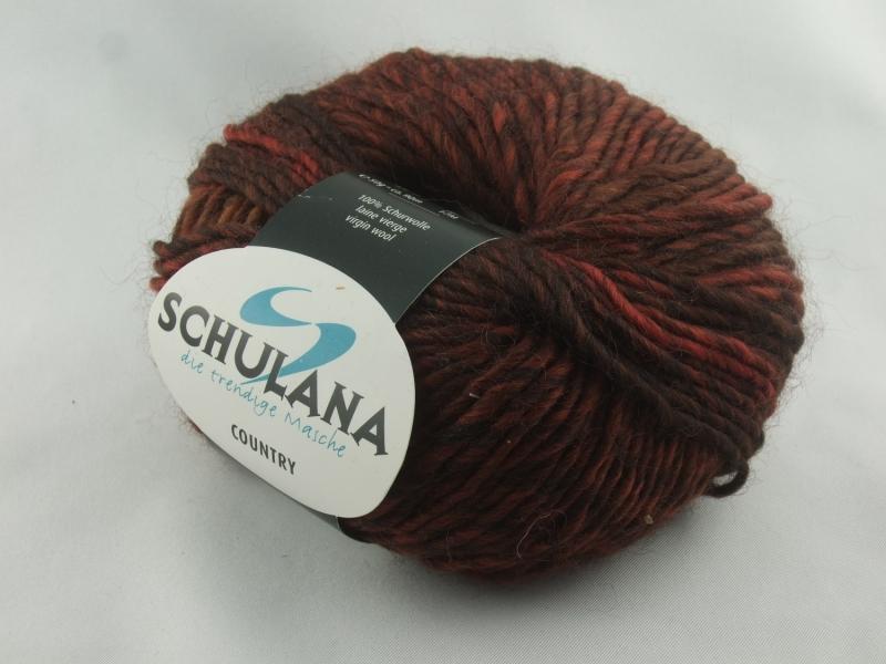 - schöne melierte Schurwolle von Schulana: Country Farbe Nr. 80, rostbraun meliert - schöne melierte Schurwolle von Schulana: Country Farbe Nr. 80, rostbraun meliert