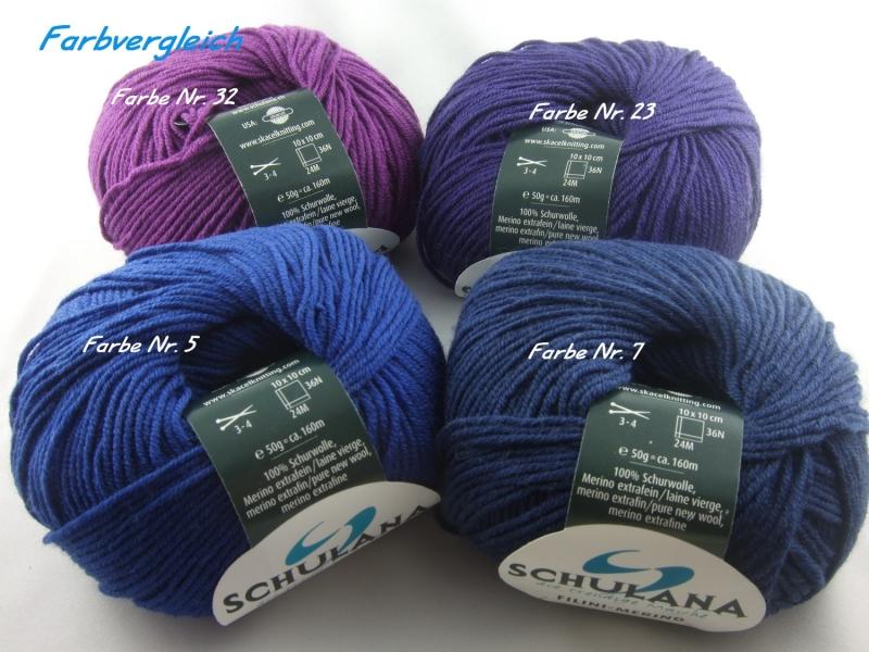 Kleinesbild - dünne einfarbige Schurwolle Merino extrafein von Schulana: Filini Merino Farbe Nr. 007, dunkelblau