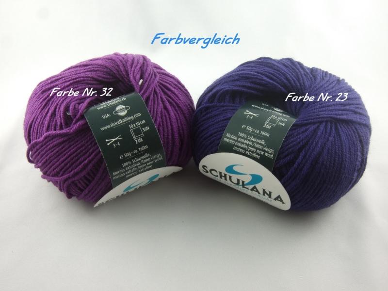 Kleinesbild - dünne einfarbige Schurwolle Merino extrafein von Schulana: Filini Merino Farbe Nr. 023, aubergine