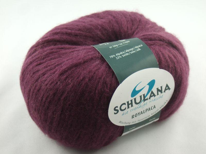 - schöne, flauschige Wolle Royalpaca von Schulana Farbe 015 in brombeere - schöne, flauschige Wolle Royalpaca von Schulana Farbe 015 in brombeere