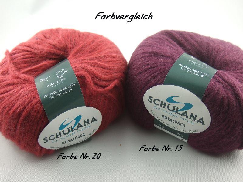 Kleinesbild - schöne, flauschige Wolle Royalpaca von Schulana Farbe 020 in rot