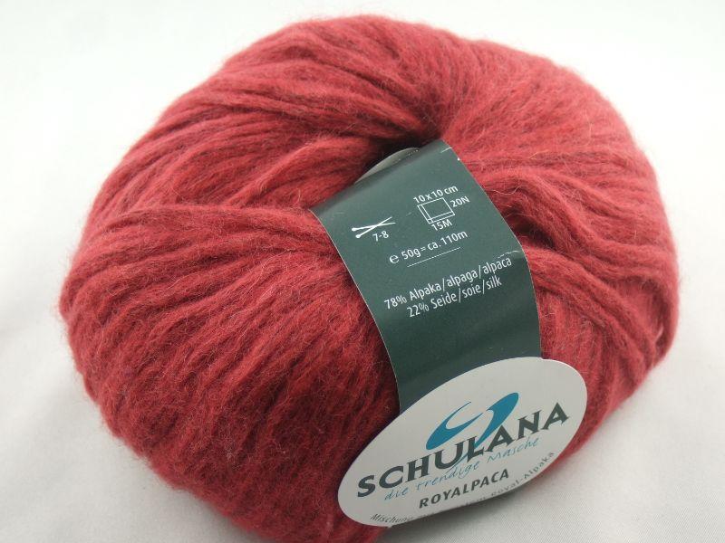 - schöne, flauschige Wolle Royalpaca von Schulana Farbe 020 in rot - schöne, flauschige Wolle Royalpaca von Schulana Farbe 020 in rot
