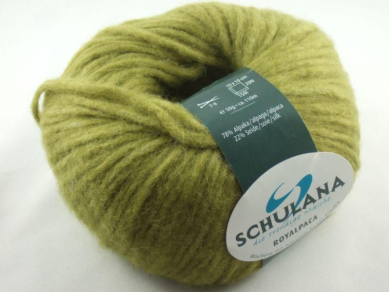 - schöne, flauschige Wolle Royalpaca von Schulana Farbe 22 in apfelgrün - schöne, flauschige Wolle Royalpaca von Schulana Farbe 22 in apfelgrün