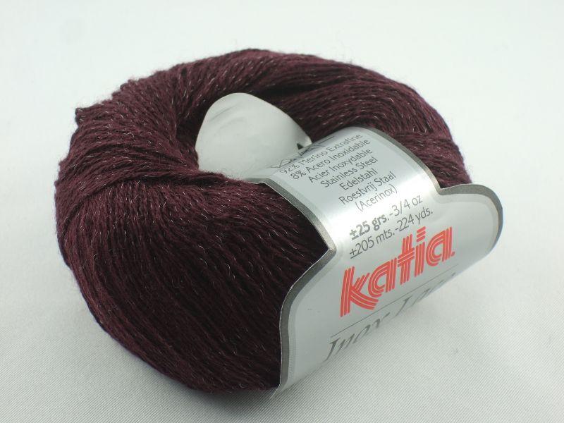 - Inox Lace von Katia - ein ganz besonderes Lacegarn mit Edelstahl in Farbe 211: bordeaux - Inox Lace von Katia - ein ganz besonderes Lacegarn mit Edelstahl in Farbe 211: bordeaux